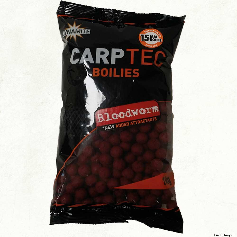 Бойлы тонущие Dynamite Baits Bloodworm CarpTec 15mm S/L - 1kg