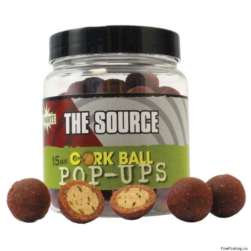 Бойлы плавающие Dynamite Baits 15 мм. The Source Cork Ball