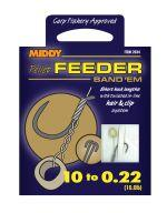 Поводки MIDDY Feeder Band Em Tied Hooks 10 to 0.22 (6pc pkt)