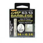 Поводки MIDDY  63-13 Barbless 16s to 0.16 9pc pkt