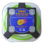 Штекерная резина MIDDY Hi-Viz Shock Core 1-5 Hollow Green