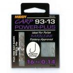 Поводки MIDDY Carp 93-13 Power-Plus 16 to 0.16 9pc pkt