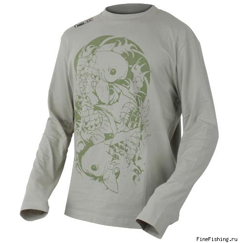 Футболка PROLOGIC  с дл.руковом Twin Carp Tattoo Tee XL Stone 46851