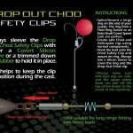 Клипса-застежка для грузил GARDNER DROP OUT CHOD SAFETY CLIPS (12шт) *NEW* DCSC