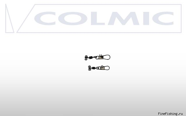 Крепеж скользящий Colmic Moved Plastic Head + Interlock Snap № 8  - 6шт