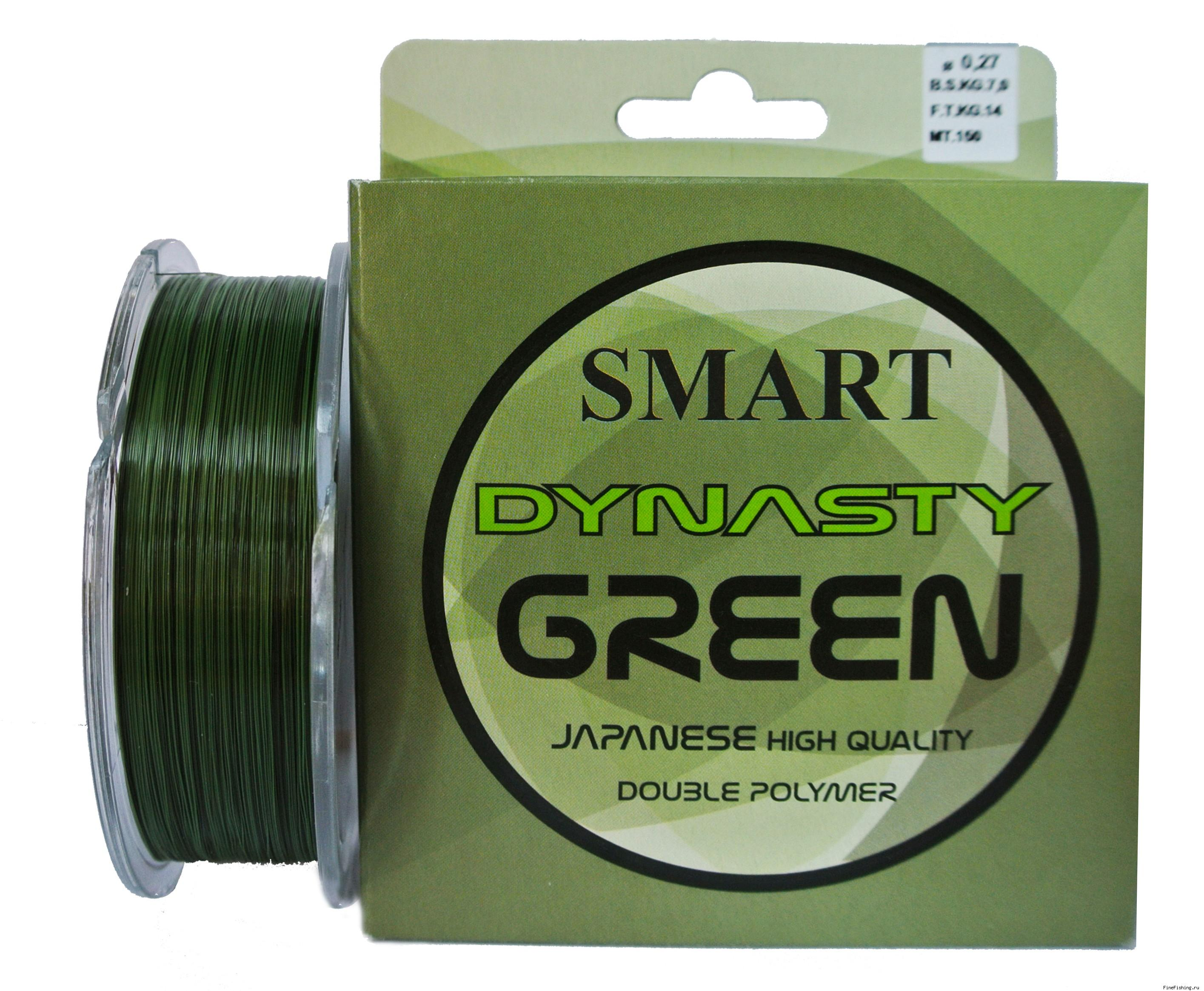 Леска Maver Smart Dynasty Green 150 м, 0.18 мм, 3кг
